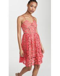 Self-Portrait Mini Azaelea Dress - Pink