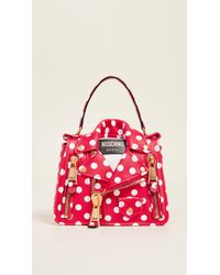 912eb74a9799 Lyst - Dolce   Gabbana Sicily Polka-dot Textured-leather Shoulder ...