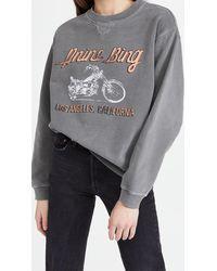 Anine Bing Ramona Moto Sweatshirt - Multicolor