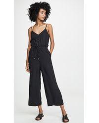 Splendid Yarn Dye Jumpsuit - Black