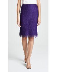 Nina Ricci - Lace Mini Skirt - Lyst