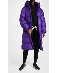 adidas By Stella McCartney Long Puffer Jacket - Purple