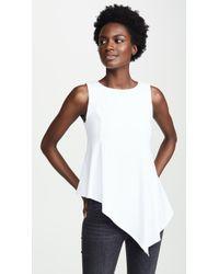 Susana Monaco - Asymmetrical Handkerchief Top - Lyst