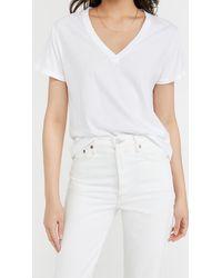 Agolde Thea V Neck Easy T Shirt - White
