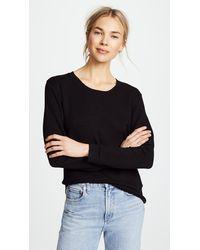 Monrow Crew Neck Sweatshirt - Black