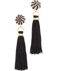 Mercedes Salazar Fiesta Earrings - Black