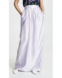 Adam Lippes - Iridescent Pleated Long Skirt - Lyst