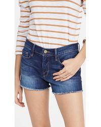FRAME Le Cutoff Shorts - Blue