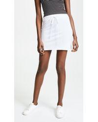 Lanston - Drawstring Mini Skirt - Lyst