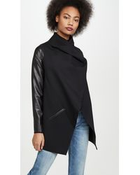 Spanx Faux Leather Convertible Jacket - Black