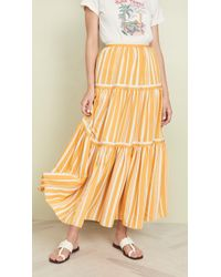 Chinti & Parker Pleated Maxi Skirt - Yellow