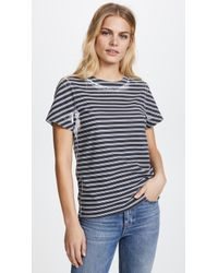T By Alexander Wang - High Twist Striped Short Sleeve Tee - Lyst