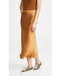 Anine Bing Bar Silk Skirt - Metallic