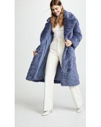 Vika Gazinskaya - Oversized Eco Furry Coat - Lyst