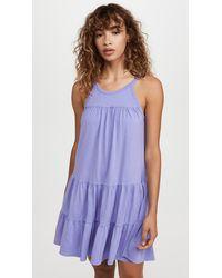 Sundry Tiered Mini Dress - Blue