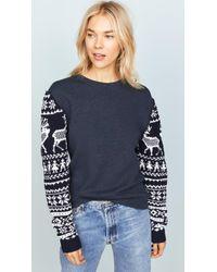 Michaela Buerger - Scandinavian Knit Sleeve Sweatshirt - Lyst