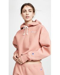 a4a9575f9 Cropped Hooded Sweatshirt - Pink