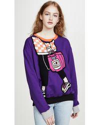 Michaela Buerger I Love Paris Carryall Sweatshirt - Purple