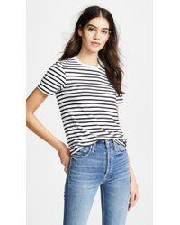 AG Jeans - Henson Tee In Black & White - Lyst