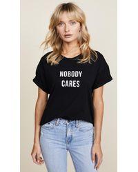 Nobody Denim Nobody Cares Tee - Black