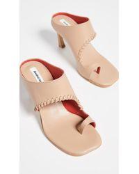 Reike Nen Asymmetry Turnover Sandals - Natural