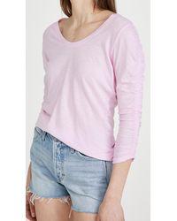 Sundry Shirred Sleeve Tee - Pink