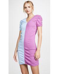 Victor Glemaud Short Sleeve Combo Dress - Multicolour