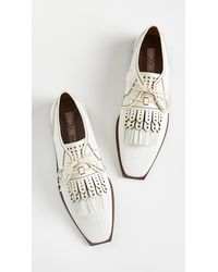 Zimmermann Lace Up Golf Shoes - White