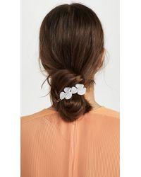 Alexandre De Paris Floral Clip - White