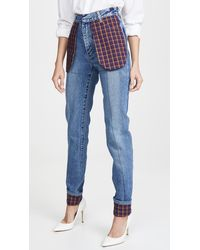 Ksenia Schnaider Slim Jeans With Celled Pockets - Blue