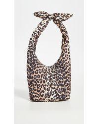 Ganni Mini Leopard Shoulder Bag - Multicolour