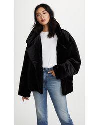 Norma Kamali Sleeping Bag Short Coat - Black