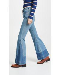 Wrangler High Rise Flare Jeans - Blue