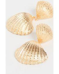 Aurelie Bidermann Shell Earrings - Metallic