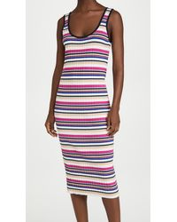 Club Monaco Ribbed Summer Dress - Multicolor