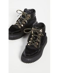 Voile Blanche Eva Shearling Hiker Boots - Black