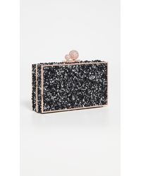 Sophia Webster 'clara' Glass Crystal Box Clutch - Black