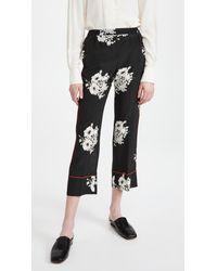 N°21 Print Pyjama Trousers - Black