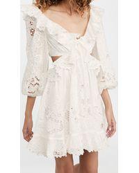 Zimmermann Lulu Scallop Mini Dress - White