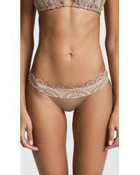 Pilyq - Sandstone Lace Banded Full Bikini Bottom - Lyst