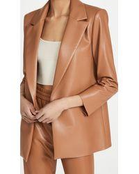 Alice + Olivia Dunn Vegan Leather Blazer - Multicolour