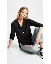 Wilt Shifted Shrunken Henley - Black