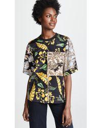 3.1 Phillip Lim - Floral Patchwork T-shirt - Lyst