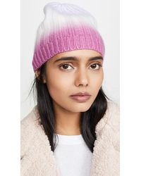 White + Warren Dip Dye Cashmere Beanie - Multicolor