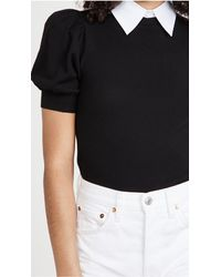 Alice + Olivia Chase Sweater With Detachable Collar - Black