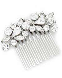 Ben-Amun - Crystal Cluster Hair Comb - Lyst