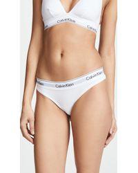 Calvin Klein - Modern Cotton Thong - Lyst
