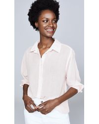 Sundry Cotton Gauze Button Down - White