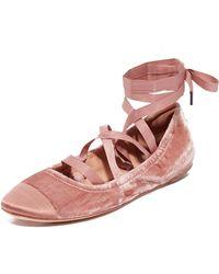 Sigerson Morrison - Charlotte Ii Velvet Ballet Flats - Lyst