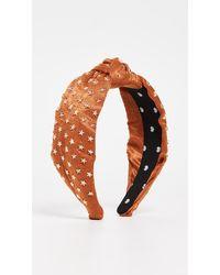 Lele Sadoughi Star Studded Silk Knotted Headband - Multicolour